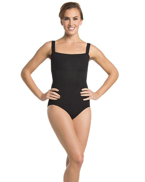 Ainsliewear 102 - Square Neck Seamed Tank Leotard Womens - Dancewear - Bodysuits & Leotards - Dancewear Centre Canada
