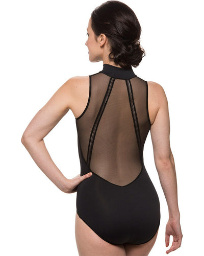 Ainsliewear 1065ME - Brynn Mesh Collared Sleeveless Leotard Womens - Dancewear - Bodysuits & Leotards - Dancewear Centre Canada