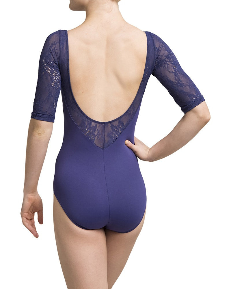 Ainsliewear 128KL - Celeste Kara Lace 3/4 Sleeve Leotard Womens - Dancewear - Bodysuits & Leotards - Dancewear Centre Canada