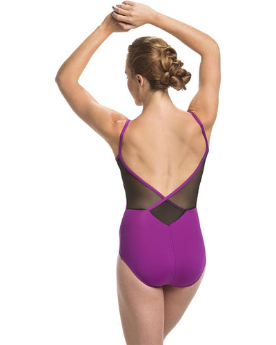 Ainsliewear Allegra Cross Back Camisole Leotard - 136ME Womens - Dancewear - Bodysuits & Leotards - Dancewear Centre Canada