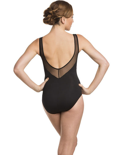 Ainsliewear 151ME - Margot Velvet Band Mesh Tank Leotard Womens - Dancewear - Bodysuits & Leotards - Dancewear Centre Canada