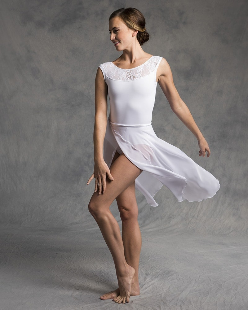 Ainsliewear 512 - Knee Length Chiffon Ballet Wrap Skirt Womens - Dancewear - Skirts - Dancewear Centre Canada