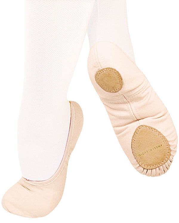 Angelo Luzio 246C - Wendy Stretch Canvas Split Sole Ballet Slippers Girls - Dance Shoes - Ballet Slippers - Dancewear Centre Canada