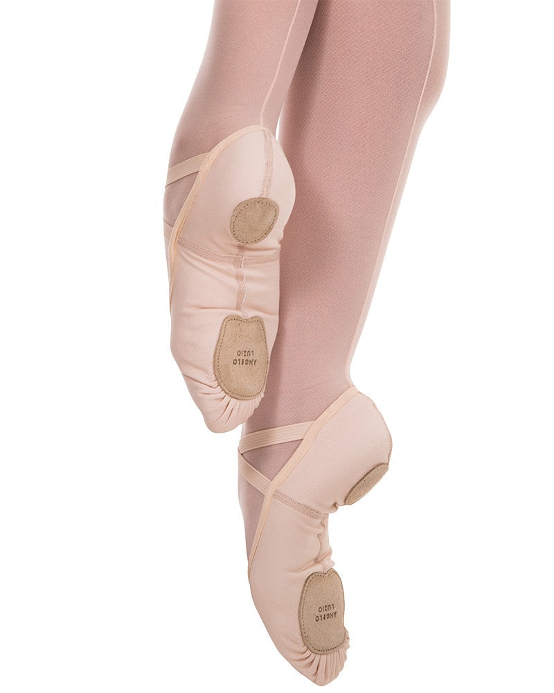 Angelo Luzio 4-Way Total Stretch Canvas Split Sole Ballet Slippers - 248 Womens - Dance Shoes - Ballet Slippers - Dancewear Centre Canada