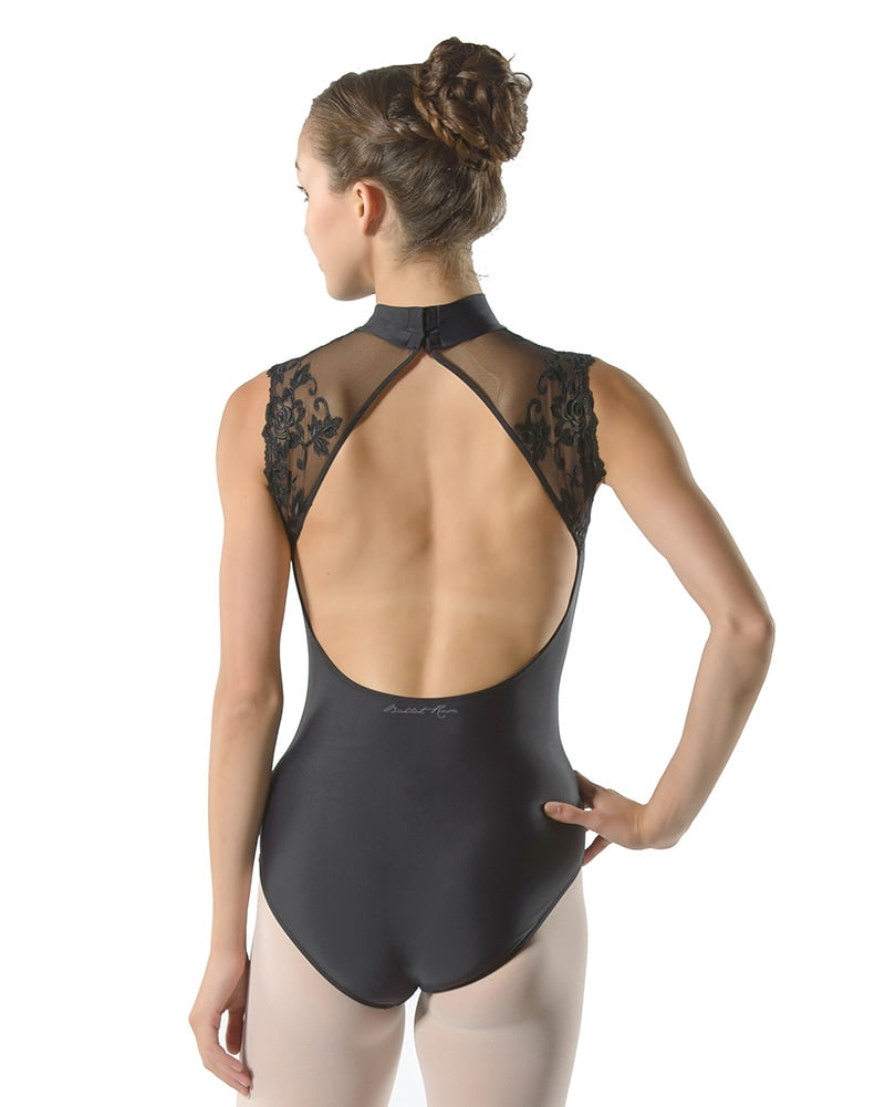 Ballet Rosa Berenice High Neck Delicate Lace Cap Sleeve Leotard - Womens