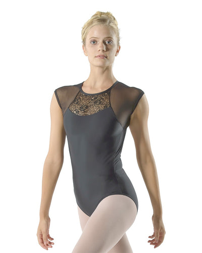 Ballet Rosa Gladys Mesh Open Back Cap Sleeve Leotard - Womens - Dancewear - Bodysuits & Leotards - Dancewear Centre Canada