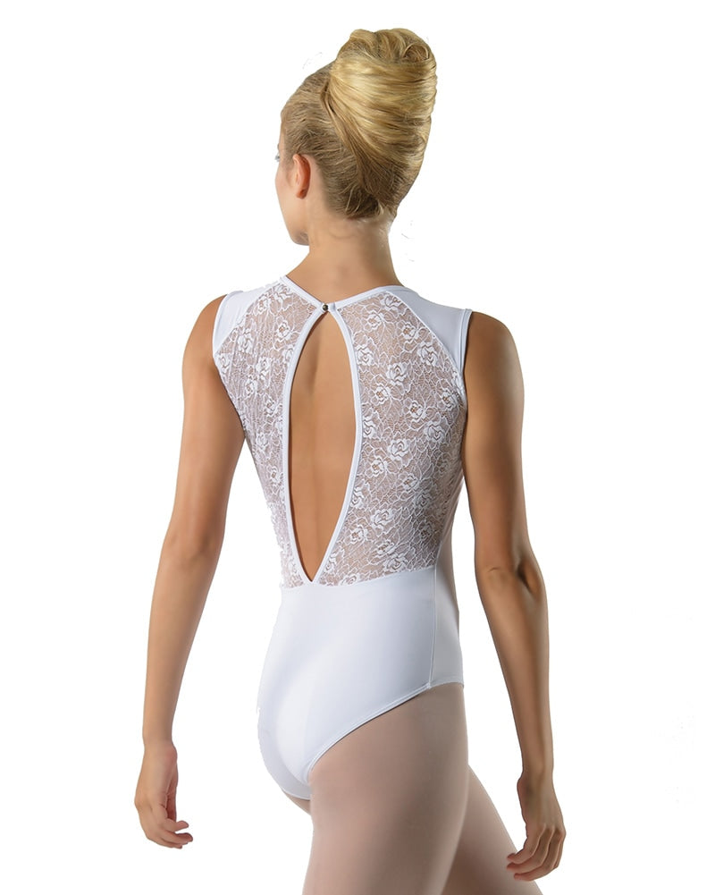 Ballet Rosa Rita Lace Panel Open Back Sleeveless Leotard - Womens - Dancewear - Bodysuits & Leotards - Dancewear Centre Canada