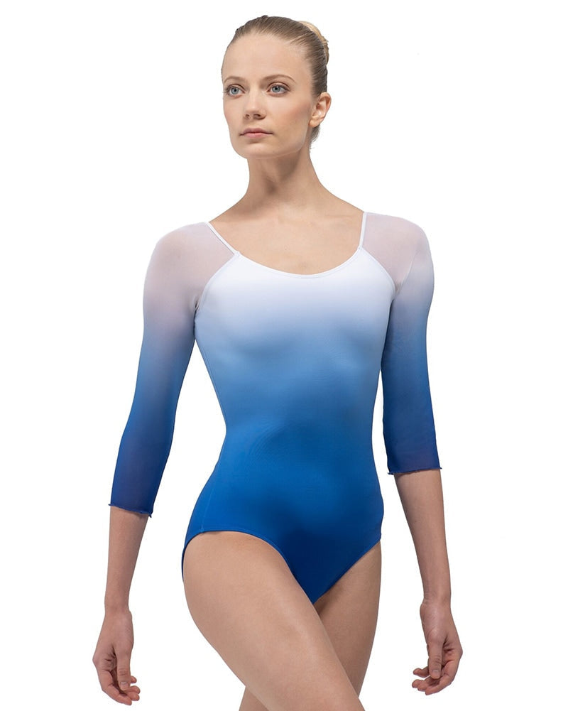 Ballet Rosa Ayala Square Back Ombre 3/4 Sleeve Leotard - Womens - Dancewear - Bodysuits & Leotards - Dancewear Centre Canada