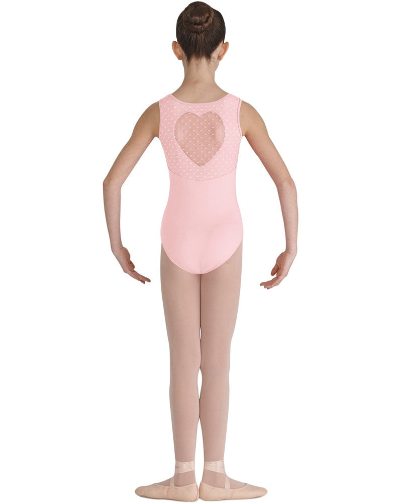Bloch Miame Heart Mesh Back Tank Leotard - CL7905 Girls - Dancewear - Bodysuits & Leotards - Dancewear Centre Canada