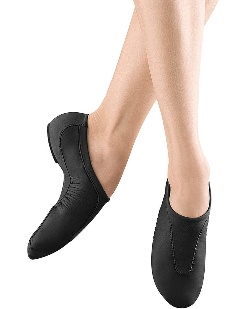 Bloch S0470L - Pulse Reflecting Curve Slip On Leather Jazz Shoes Womens - Dance Shoes - Jazz Shoes - Dancewear Centre Canada