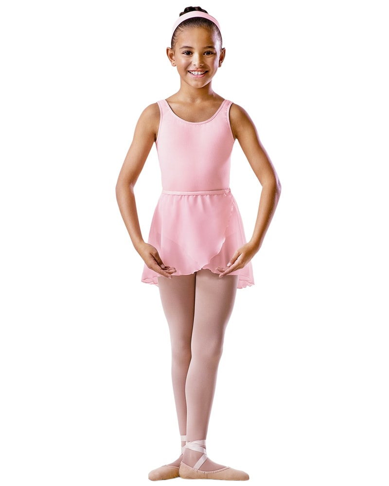 Bloch BU601C - Cross Over Pull On Chiffon Ballet Skirt Girls