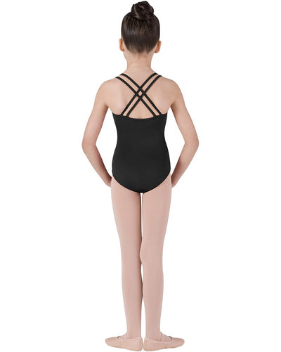 Bloch CL1637 - Double Strap Cross Back Camisole Leotard Girls - Dancewear - Bodysuits & Leotards - Dancewear Centre Canada