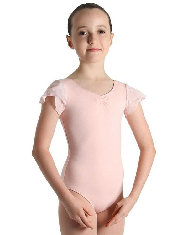 Bloch CL3732 - Sequin Tulip Cap Sleeve Leotard Girls - Dancewear - Bodysuits & Leotards - Dancewear Centre Canada