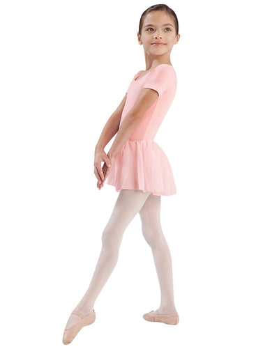 Bloch CL5342 - Classic Cap Sleeve Skirted Ballet Dress Girls - Dancewear - Dresses - Dancewear Centre Canada