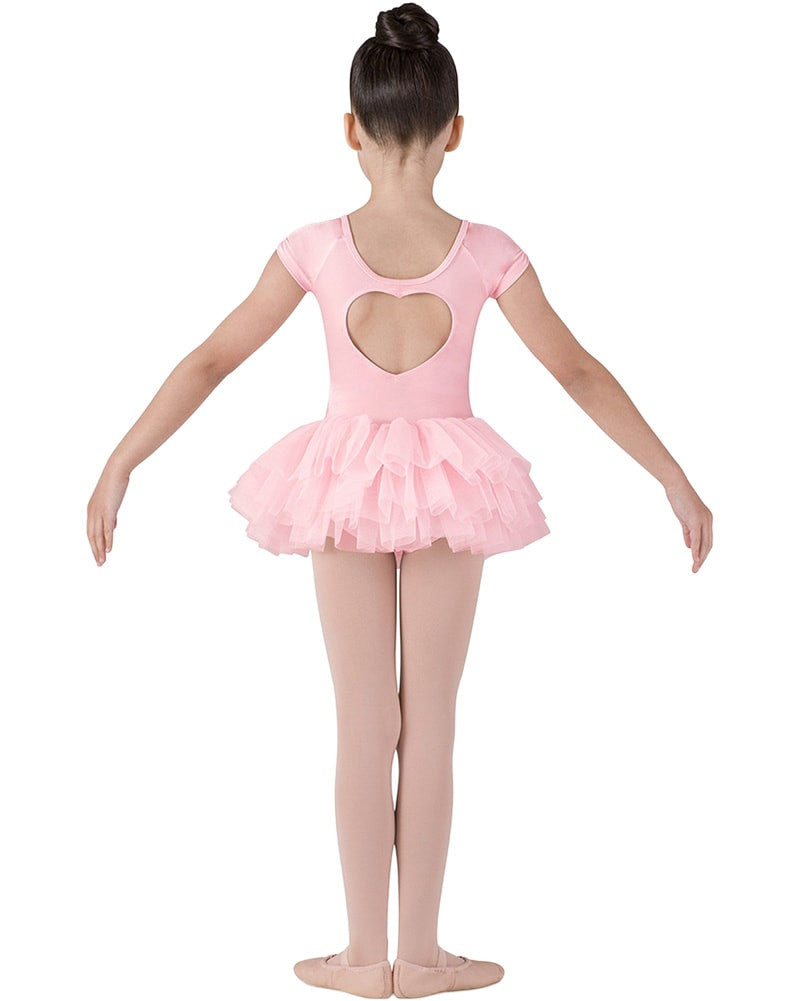Bloch CL8012 - Sequin Trim Heart Back Tutu Ballet Dress Girls