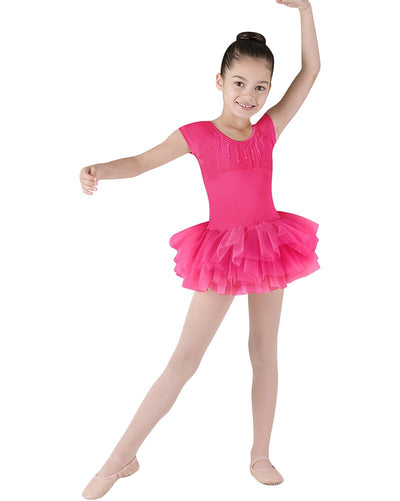Bloch CL8012 - Sequin Trim Heart Back Tutu Ballet Dress Girls - Dancewear - Dresses - Dancewear Centre Canada
