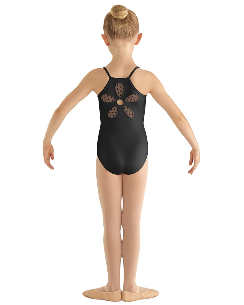 Bloch Begonia Flower Mesh Back Camisole Leotard - CL8097 Girls - Dancewear - Bodysuits & Leotards - Dancewear Centre Canada