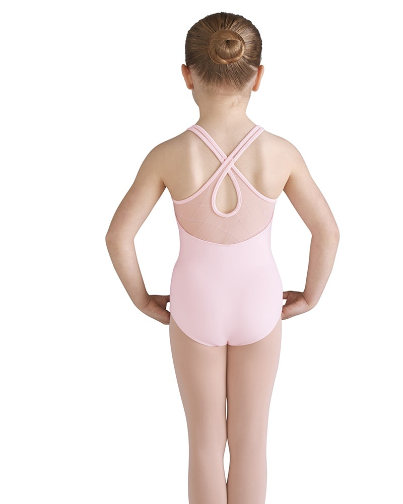 Bloch Bai Diamond Heart Flocked Mesh Cross Back Tank Leotard - CL9585 Girls - Dancewear - Bodysuits & Leotards - Dancewear Centre Canada