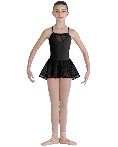 Bloch CR7921 - Heart Mesh Two Layer Overlay Pull On Ballet Skirt Girls - Dancewear - Skirts - Dancewear Centre Canada