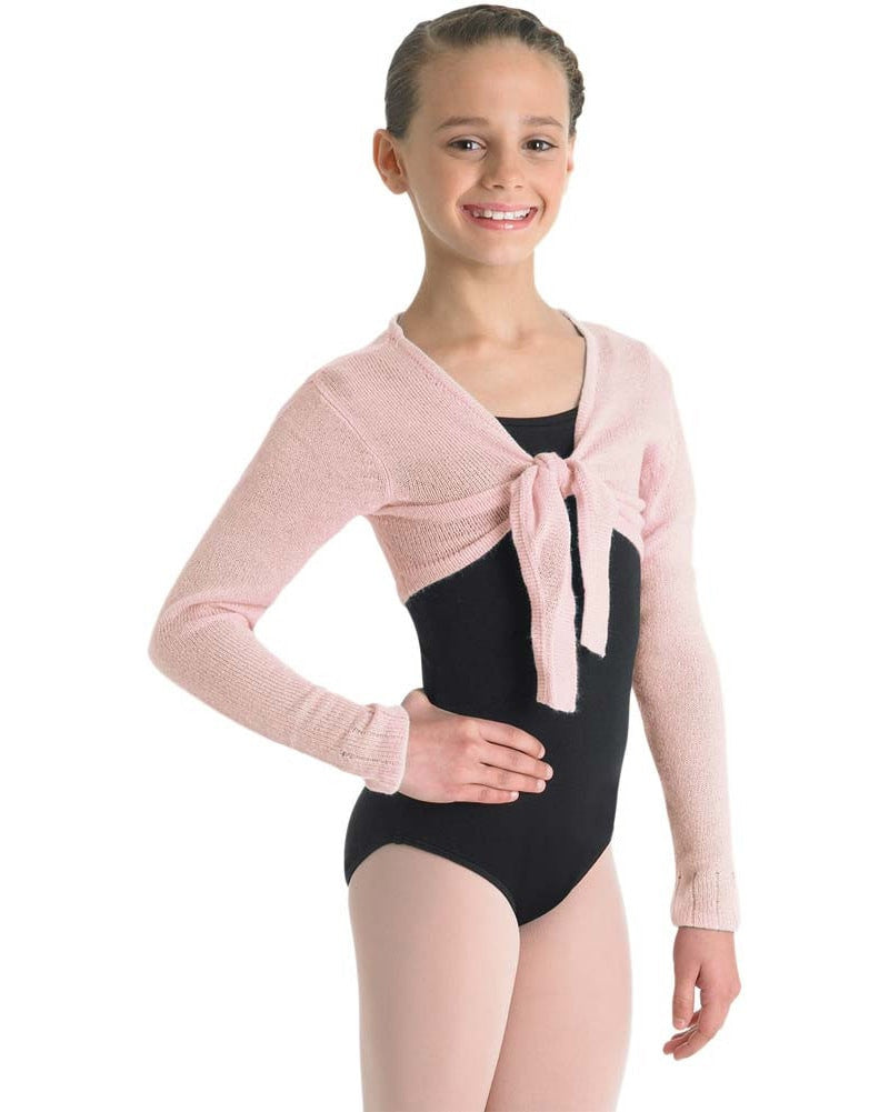 Bloch Cropped Tie Knit Wrap Sweater - CZ0989 Girls - Dancewear - Tops - Dancewear Centre Canada