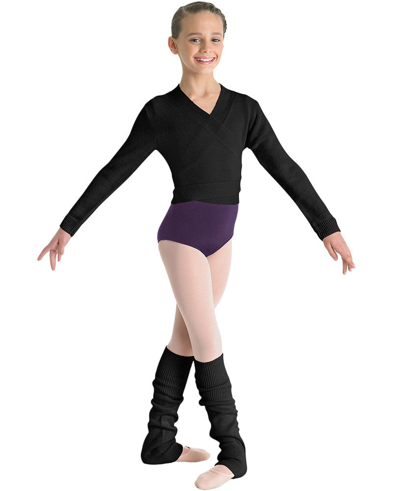 Bloch Cross Over Knit Cardigan Wrap Sweater - CZ0999 Girls - Dancewear - Tops - Dancewear Centre Canada