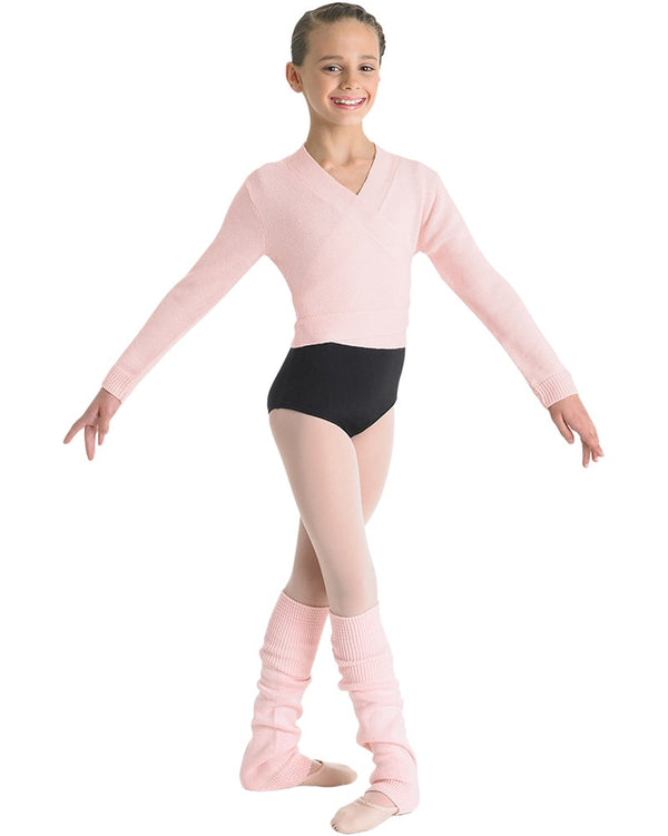 Bloch CZ0999 - Cross Over Knit Cardigan Wrap Sweater Girls - Dancewear - Warmups - Dancewear Centre Canada