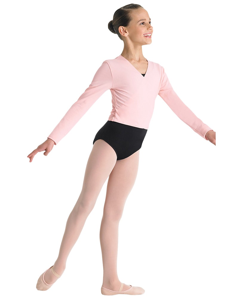 Bloch Cambre Crossover Ballet Wrap Sweater - CZ5407 Girls - Dancewear - Tops - Dancewear Centre Canada
