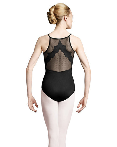 Bloch Scallop and Spot Mesh Camisole Leotard - L8917 Womens - Dancewear - Bodysuits & Leotards - Dancewear Centre Canada