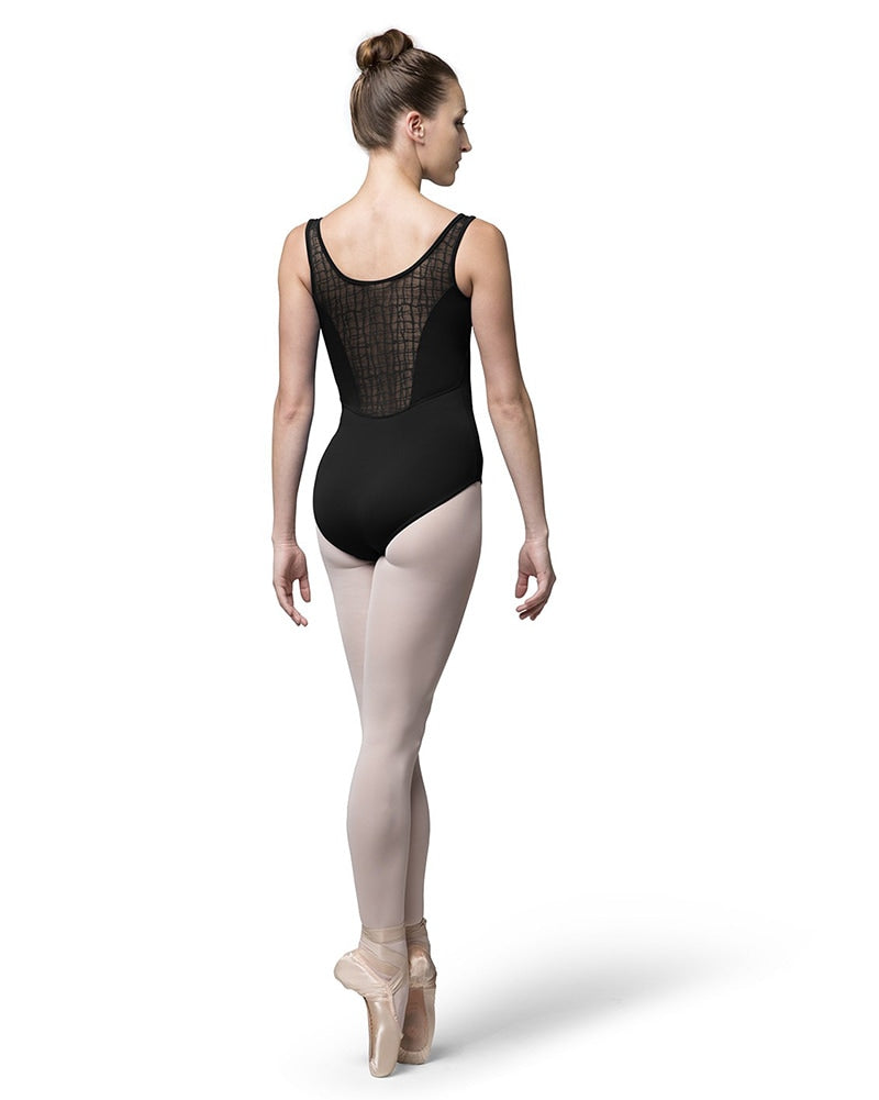 Bloch Darby Check Mesh Paneled Tank Leotard - L8955 Womens - Dancewear - Bodysuits & Leotards - Dancewear Centre Canada