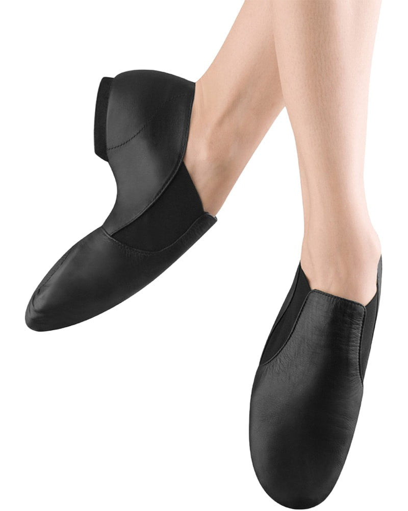 Bloch Elasta Bootie Slip On Leather Jazz Shoes - S0499L Womens