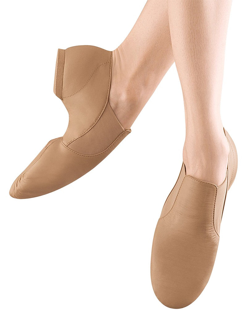 Bloch S0499L - Elasta Bootie Slip On Leather Jazz Shoes Womens