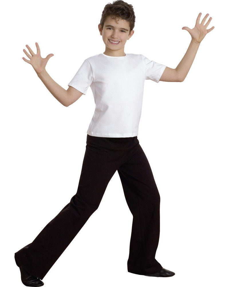 Body Wrappers Straight Leg Stretch Cotton Jazz Dance Pants - B191 Boys