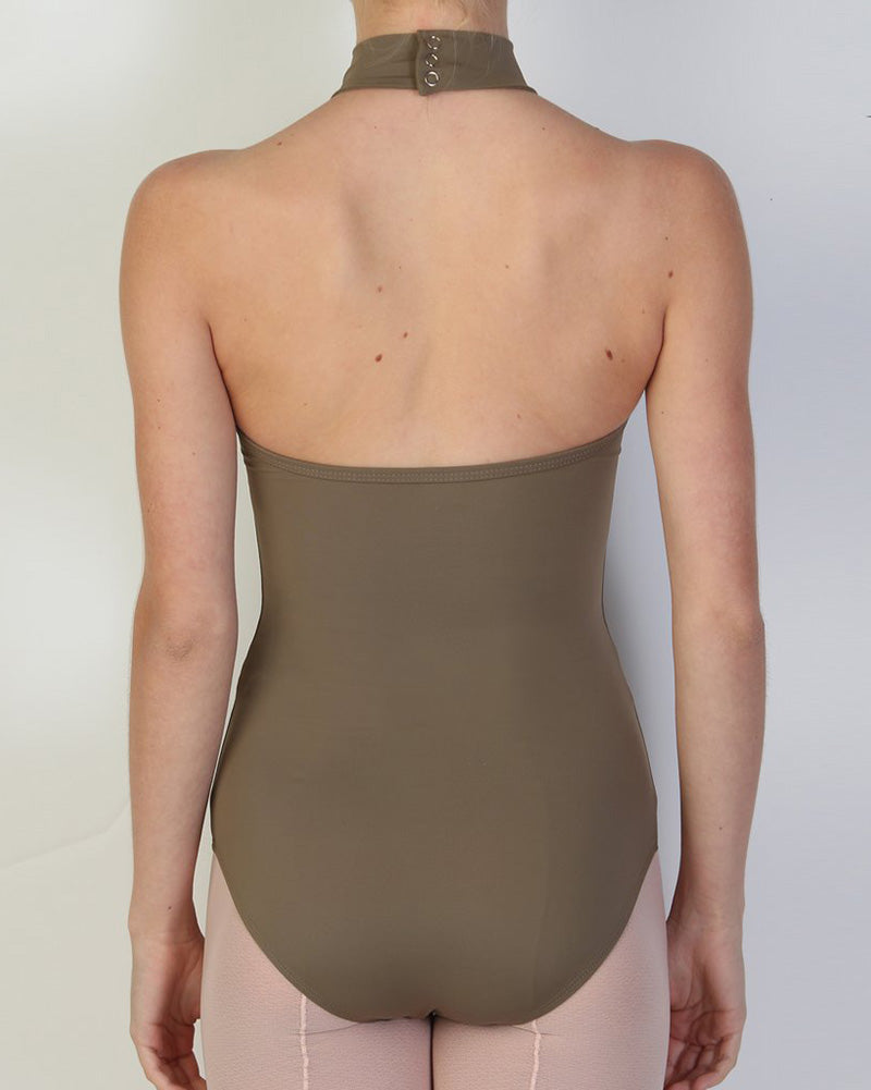 Bullet Pointe High Neck Leotard - Womens - Cappuccino - Dancewear - Bodysuits & Leotards - Dancewear Centre Canada