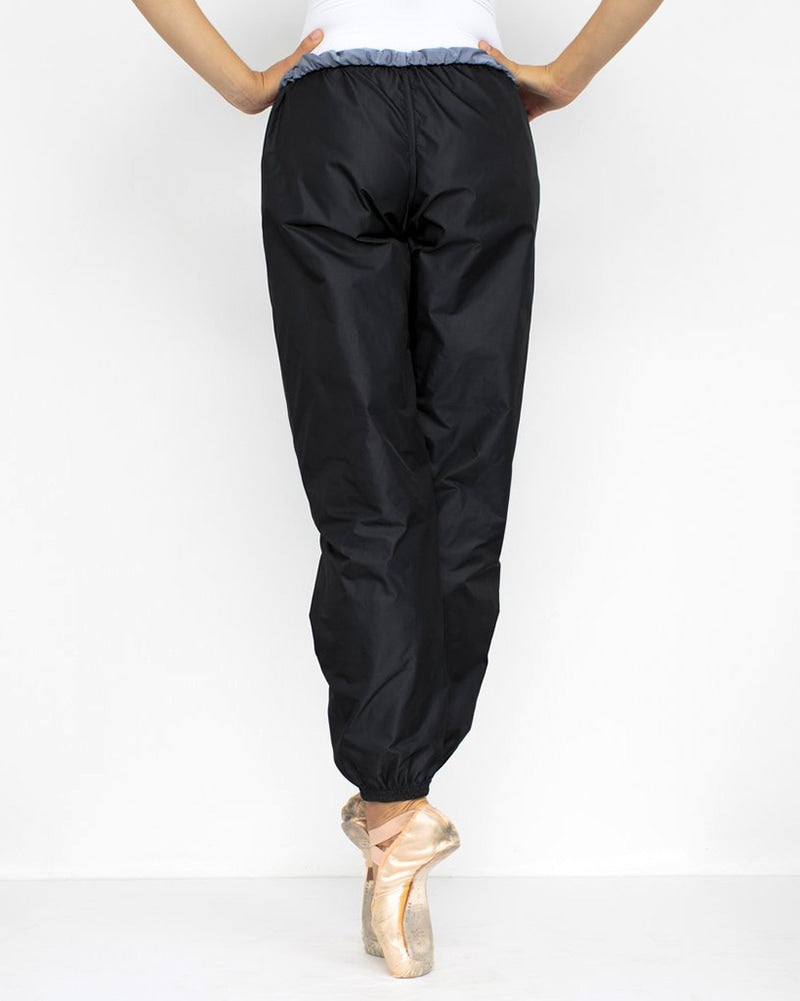 Bullet Pointe Ripstop Reversible Warmup Dance Pants - Womens - Black/Grey - Dancewear - Bottoms - Dancewear Centre Canada