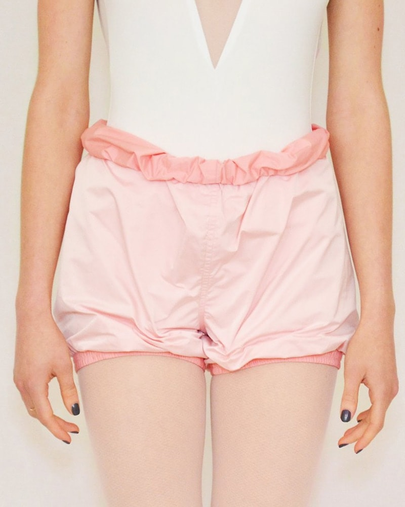 Bullet Pointe Ripstop Reversible Warmup Dance Shorts - Womens - Pink/Light Pink - Dancewear - Bottoms - Dancewear Centre Canada