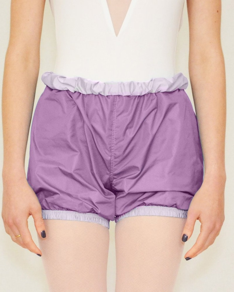 Bullet Pointe Ripstop Reversible Warmup Dance Shorts - Womens - Purple Cloud/Plum - Dancewear - Bottoms - Dancewear Centre Canada