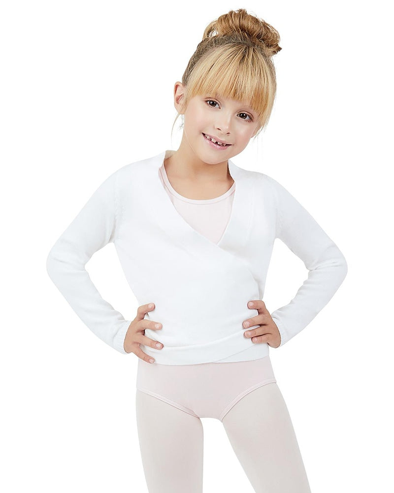 Capezio Knit Ballet Wrap Sweater - CK10949C Girls - Dancewear - Tops - Dancewear Centre Canada