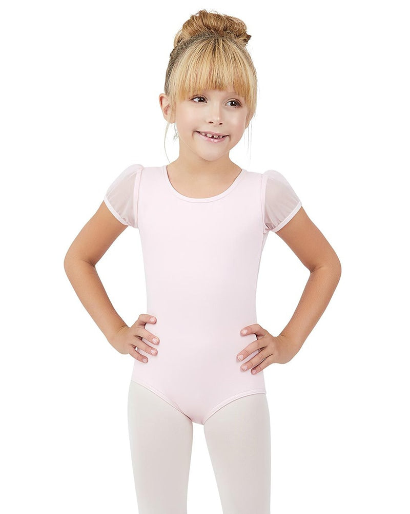 Capezio Mesh Puff Sleeve Leotard - 11311C Girls - Dancewear - Bodysuits & Leotards - Dancewear Centre Canada