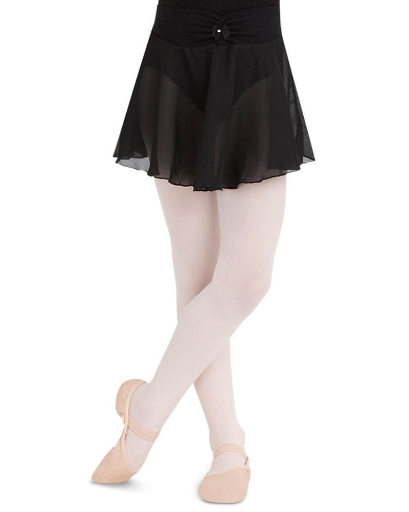 Capezio Rhinestone Bow Pull-On Ballet Skirt - N9635C Girls - Dancewear - Skirts - Dancewear Centre Canada