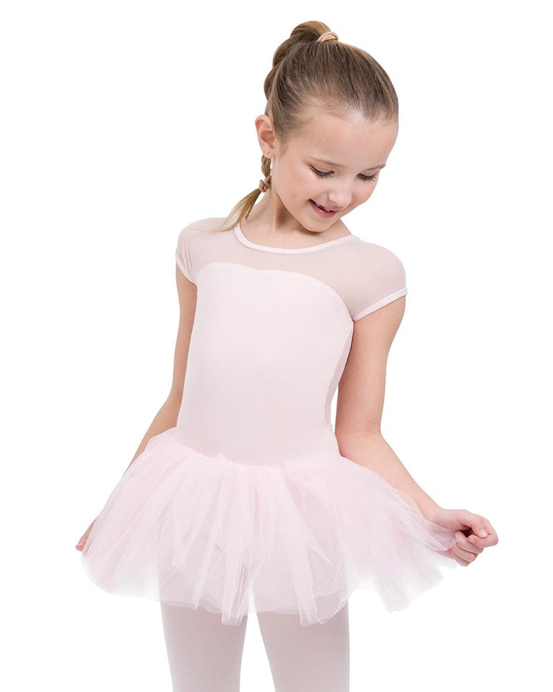Capezio Short Sleeve Keyhole Back Ballet Tutu Dress - 11394C Girls - Dancewear - Dresses - Dancewear Centre Canada