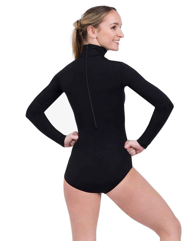 Capezio Turtleneck Long Sleeve Leotard - TB41 Womens - Dancewear - Bodysuits & Leotards - Dancewear Centre Canada