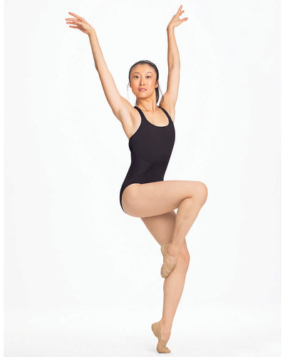 Capezio 11287W - Mesh Insert Criss-Cross Back Camisole Leotard Womens - Dancewear - Bodysuits & Leotards - Dancewear Centre Canada