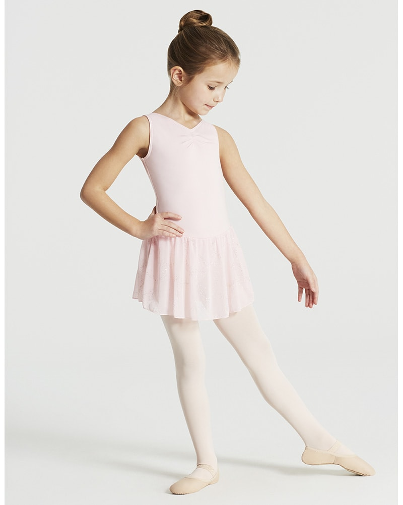 Capezio Pinch Front Tank Ballet Dress - 11309C Girls - Dancewear - Dresses - Dancewear Centre Canada