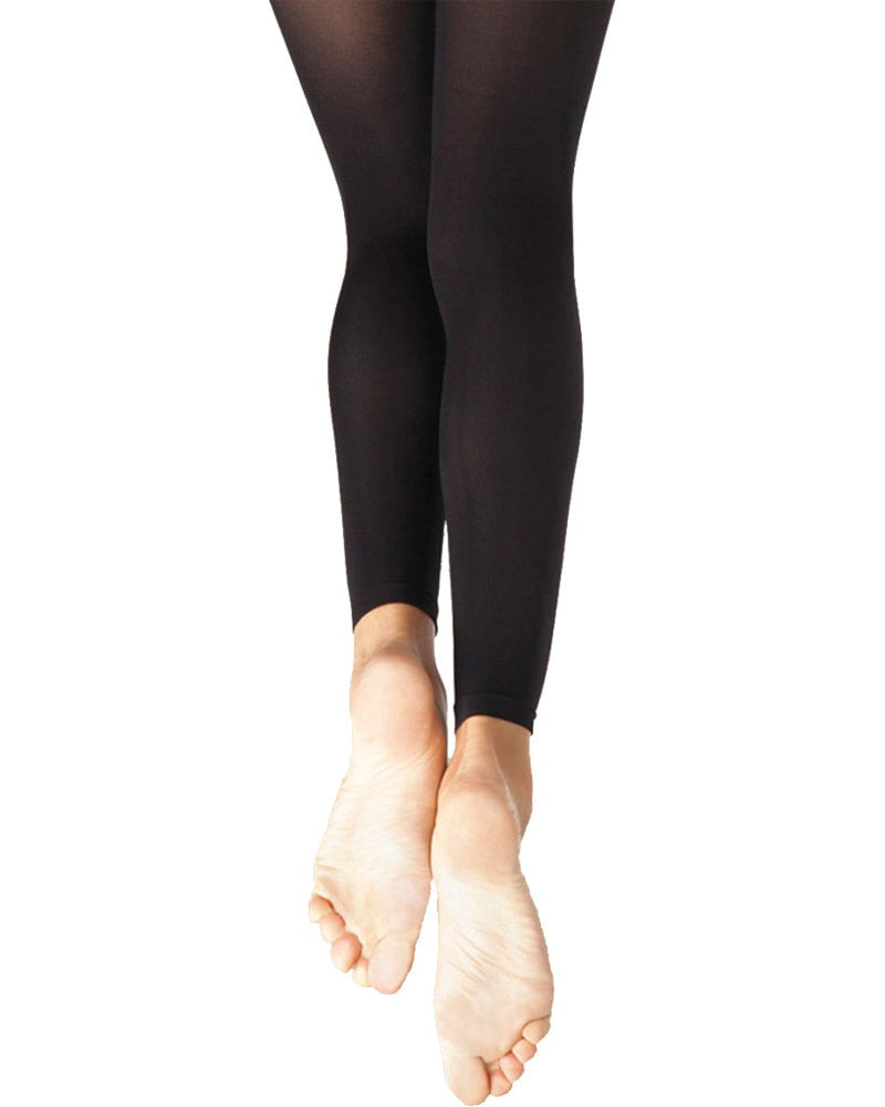 Capezio Ultra Soft Knit Waistband Footless Dance Tights - 1917XC Girls - Dance Tights - Footless Tights - Dancewear Centre Canada