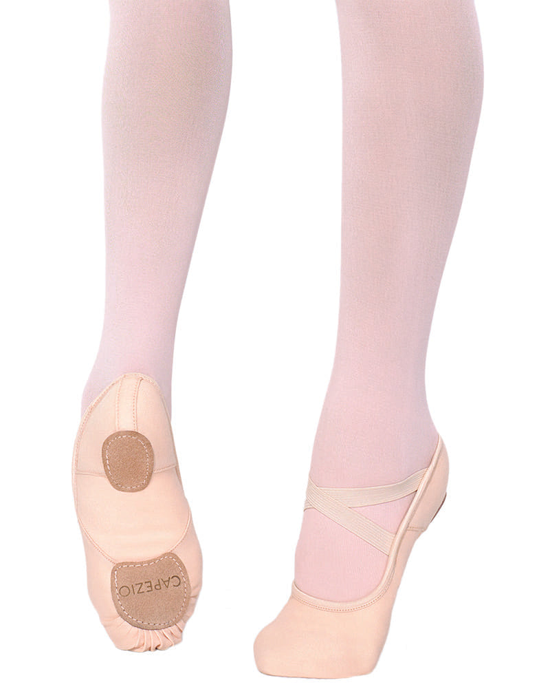 Capezio Hanami Canvas Split Sole Ballet Slippers - 2037C Girls - Dance Shoes - Ballet Slippers - Dancewear Centre Canada