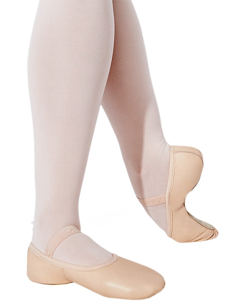 Capezio Lily No Drawstring Leather Full Sole Ballet Slippers - 212C Girls/Boys - Dance Shoes - Ballet Slippers - Dancewear Centre Canada