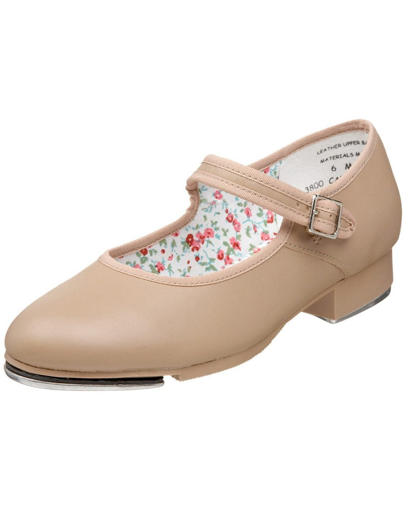 Capezio Mary Jane Leather Buckle Strap Tap Shoes - 3800 Womens