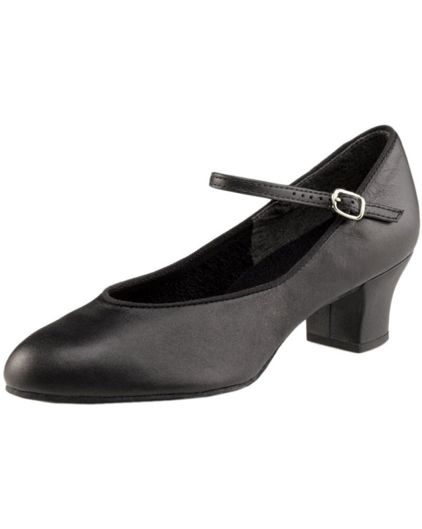 "Capezio 459 -  Jr. Footlight Suede Sole Leather 1.5"" Character Shoes Womens - Dance Shoes - Character & Musical Theatre Shoes - Dancewear Centre Canada"