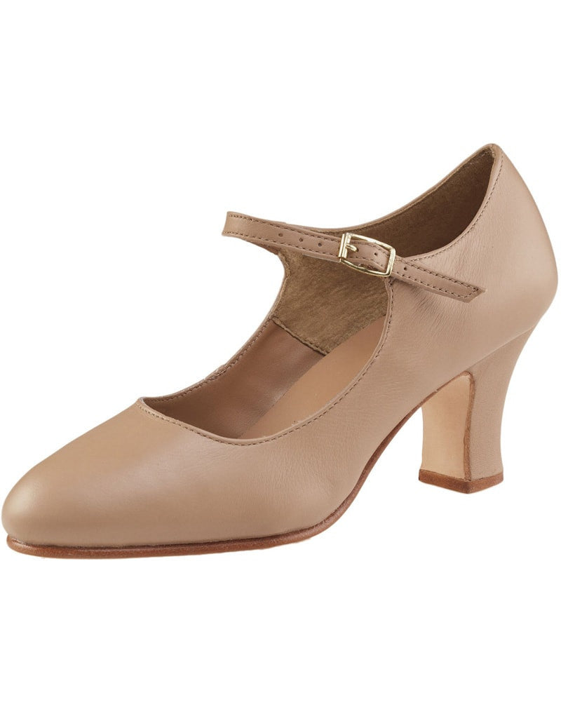 Capezio 653 Manhattan Leather 25 Character Shoes Womens