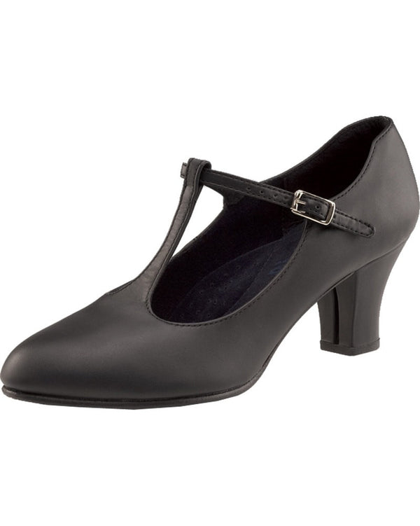 "Capezio 700 - T-Strap Leather 2"" Character Shoes Womens - Dance Shoes - Character & Musical Theatre Shoes - Dancewear Centre Canada"